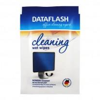 Почистващи кърпи Data Flash, комплект суха/напоена, 10 броя в кутия