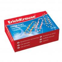 Кламери ErichKrause ZEBRA 24873, 28 мм, 100 броя, цветни