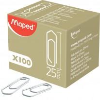 Кламери Maped, триъгълни, 25 мм, 100 броя