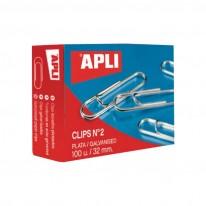Кламери Apli, заоблени, 26 мм, 100 броя