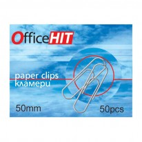 Кламери OfficeHIT, заоблени, 50 мм, 50 броя