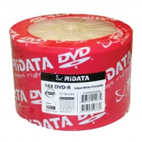 DVD-R диск Ridata Printable, 4.7GB, 16x, целофан 50 бр.