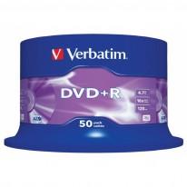 DVD - R диск VERBATIM Matt Silver, 4.7GB, 16x, шпиндел, 50 бр.