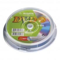 DVD+R диск Ridata, 4.7GB, 16x, шпиндел 10 бр.