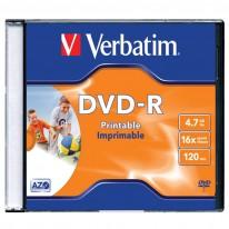 DVD - R диск VERBATIM Printable, 4.7GB, 16x