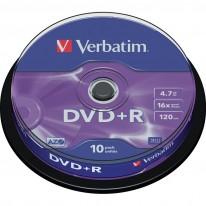 DVD+R диск VERBATIM Matt Silver, 4.7GB, 16x, шпиндел, 10 бр.