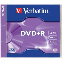 DVD+R диск VERBATIM Matt Silver, 4.7GB, 16x
