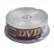 DVD-R диск Ridata, 4.7GB, 16x, шпиндел 25 бр.