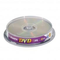 DVD-R диск Ridata, 4.7GB, 16x, шпиндел 10 бр.