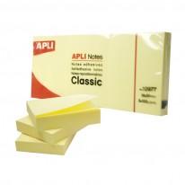 Самозалепващи листчета APLI, 38 x 51 мм, жълти