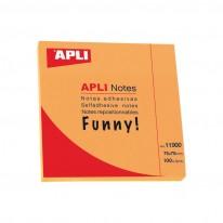 Самозалепващи листчета APLI, неон, 75 x 75 мм, цветни