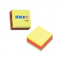 Самозалепващи листчета Stick`N, неон, 76 x 76 мм, 5 цвята