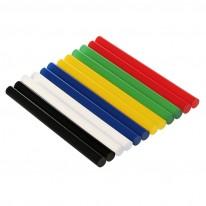 Силикон, пръчки, Ø7.5 мм x 10 см, 10 бр. в опаковка, цветни