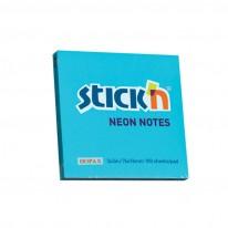 Самозалепващи листчета Stick`N, неон, 76 x 76 мм