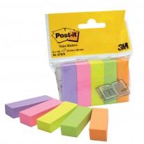 Индекси Post-it 670-5, 15 x 50 мм, 5 цвята x 100 л.