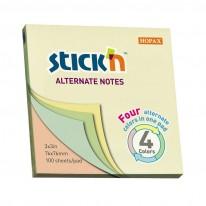 Самозалепващи листчета Stick`N Alternate, пастел, 76 x 76 мм, 4 цв.