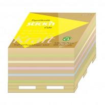 Самозалепващи листчета Kraft Cube, 76 x 76 мм, 5 цв.