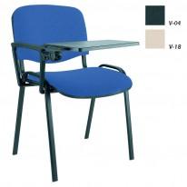 Посетителски стол Iso Black с еко кожа