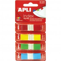 Индекси Apli Zig-Zag, пастел, 12 x 45 мм, 4 x 40 бр.