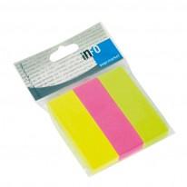 Индекси Global Notes, неон, 25 х 75 мм, 3 цвята, 100 л.