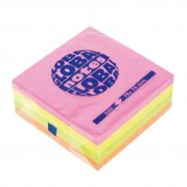 Самозалепващи листчета Global Notes, неон, 75 x 75 мм, 320 л.