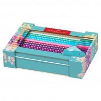 Цветни моливи Sparkle, 20 цвята, с острилка