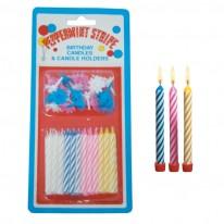 Свещички за рожден ден, със столче 12 бр.