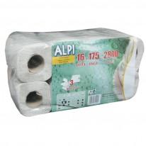 Тоалетна хартия ALPI Professional, 3-пластова,натурална, 175 откъса, 1 бр.