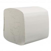Тоалетна хартия на пачки WC-V, 200 бр., бяла, 100 % целуоза