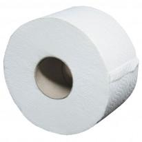 Тоалетна хартия Джъмбо, 3-пластова, бяла, 100% целуоза, 1 бр.