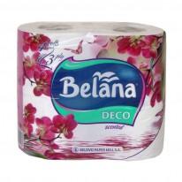 Тоалетна хартия Belana, 3-пластова, бяла