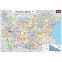 Административна карта на България, ламинирана, 1 : 530 000