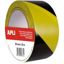 Маркираща лента за под Apli в два цвята, размер 50 мм X 33м