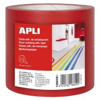 Маркиращи ленти за под Apli, 2 броя в пакет, всяка лента с размер 40 мм X 33 м