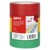 Маркиращи ленти за под Apli, 3 броя в пакет, всяка лента с размер 40 мм X 33 м